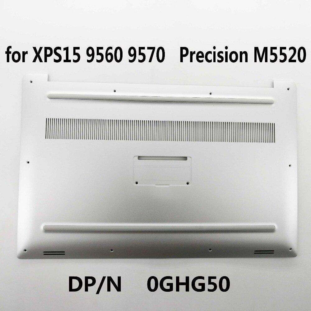 New Original Bottom Case Cover For Dell XPS 15 9560 9570 Precision M5520 0GHG50 GHG50 Silver