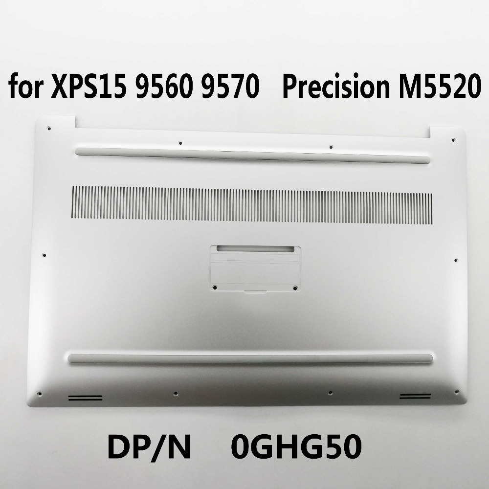 New Original Bottom Case Cover For Dell XPS 15 9560 <font><b>9570</b></font> Precision M5520 0GHG50 GHG50 Silver image