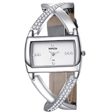 WoMaGe Gift Casual Luxury Rhinestone Bracelet Watch Women