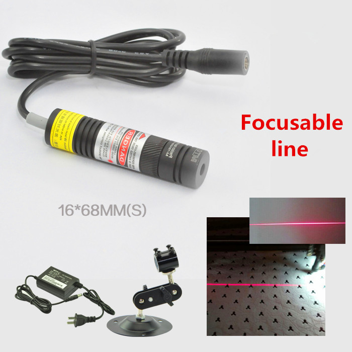 Focusable 650nm 10mw 50mw 100mw 150mw 200mw Laser Line Module for Clothes Cutting / Wood Cutting Mechanical Positioning