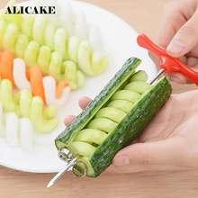 Rullo A Spirale Affettatrice A Spirale della patata Affettatrice di Verdure In Acciaio Inox Manuale di Torsione Coltello Da Frutta Intagliare Cutter Accessori Per la Cucina
