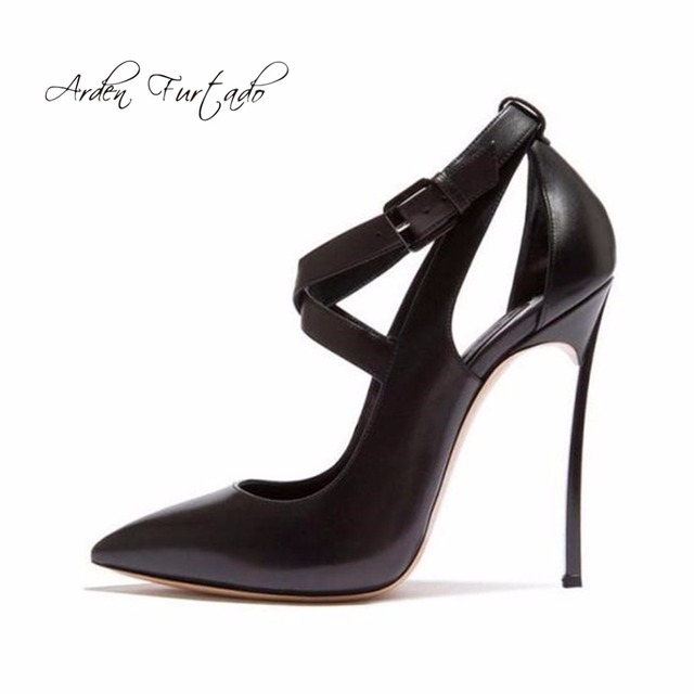 c0668a5bf511 Arden Furtado 2018 summer sexy high heels 12 cm metal heel girl shoes for woman  fashion buckle strap sandals party shoes women
