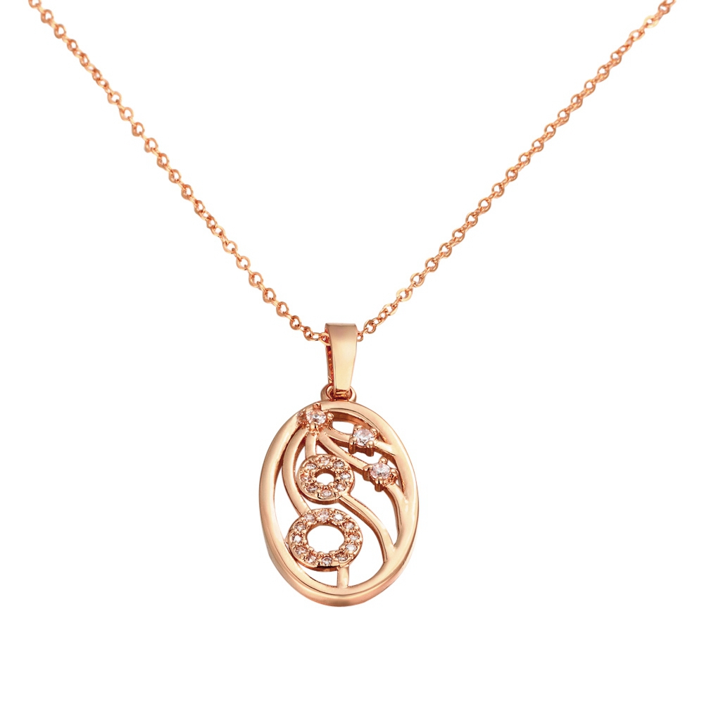Супер овальной Форма покрытие из розового золота тонкая цепочка Горячая цена завода Для женщин Jewelry Подвеска Цепочки и ожерелья
