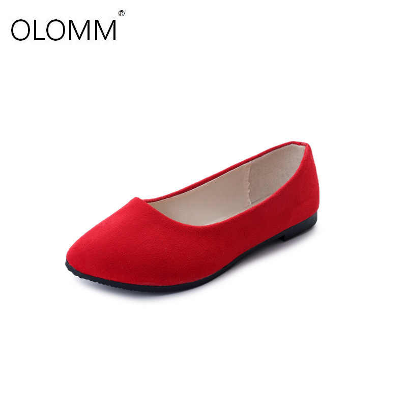 Moda Kadın Flats Ayakkabı 2019 Sahte Süet Loafer'lar Şeker Renk Ayakkabı Kadın Kürk Daireler Sıcak Bayan Ayakkabıları Siyah Tekne Ayakkabı