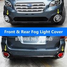 Per Subaru Outback ABS Cromato Anteriore e Posteriore Della Luce di Nebbia Trim Copertura 2015-2018 4 pz