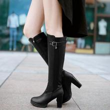 ENMAYER size 34-39 fashion women boots high heels knee boots women shoes PU leather designer sexy boots zipper knee high boots bling pu leather women sexy boots high heels zipper shoes warm fur winter boots for women x1022 35
