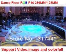 P16 rgb полноцветный танцпол, 256 мм * 128 мм, IP65 дизайн, led танцпол продажа