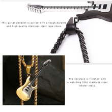 Music Lover Guitar Necklace