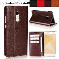 Deluxe Wallet Case For Xiaomi Redmi Note 4 Redmi Note 4X Premium Leather Case Flip Phone