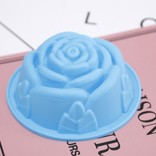 1Pcs Silicone FLOWER ROSE Cake Candy Mold Jelly Cupcake Mould Baking Tool DIY Celebration Party Cake 3D chocolate baking Tools