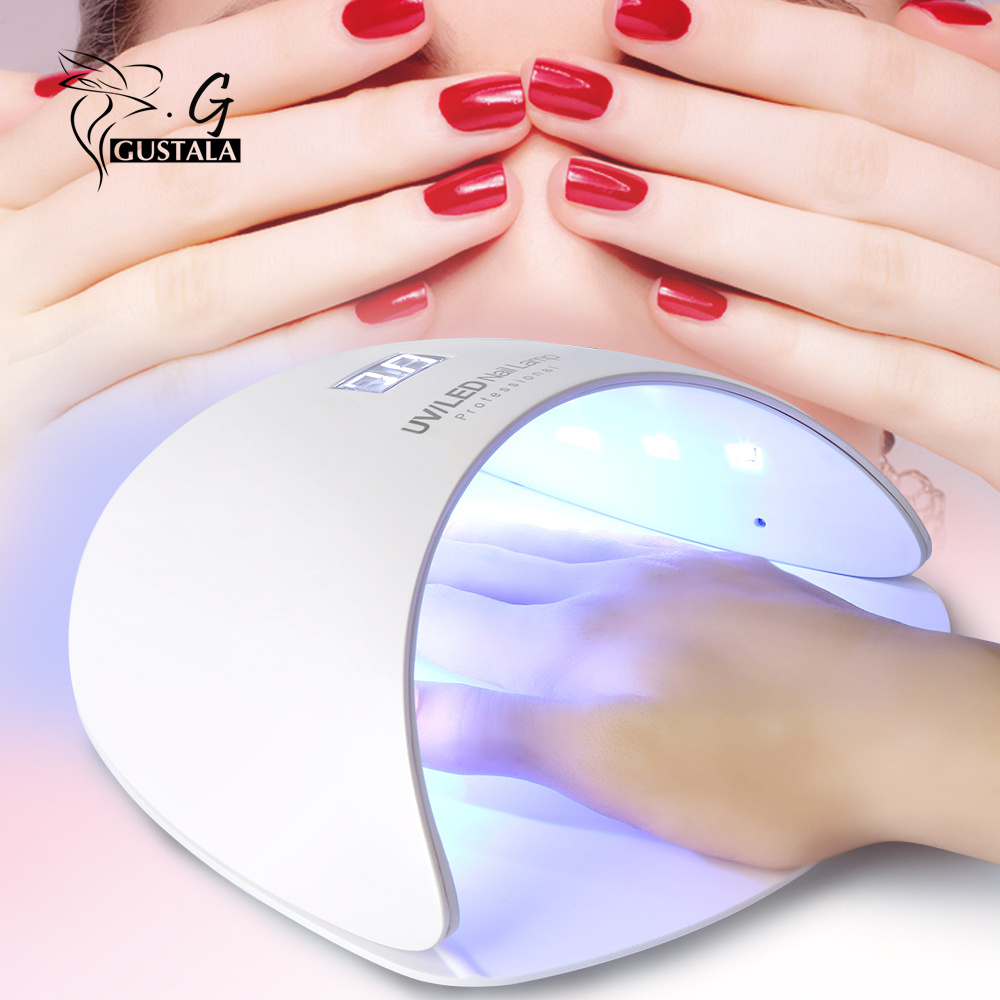 Gustala EM1816 Nail Dryer Lamp 18W Professional Manicure Tool with LCD Display LED UV Dryer Lamp for Curing Nail Polish Nail Gel электропила patriot es 1816