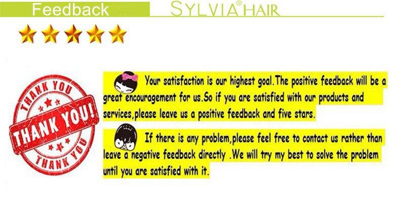 Sylvia 6*13 perucas pretas naturais da parte
