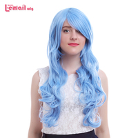 L email wig New Date A Live 3rd Season Yoshino Cosplay Wigs 80cm Light Blue Synthetic Hair Perucas Cosplay Wig