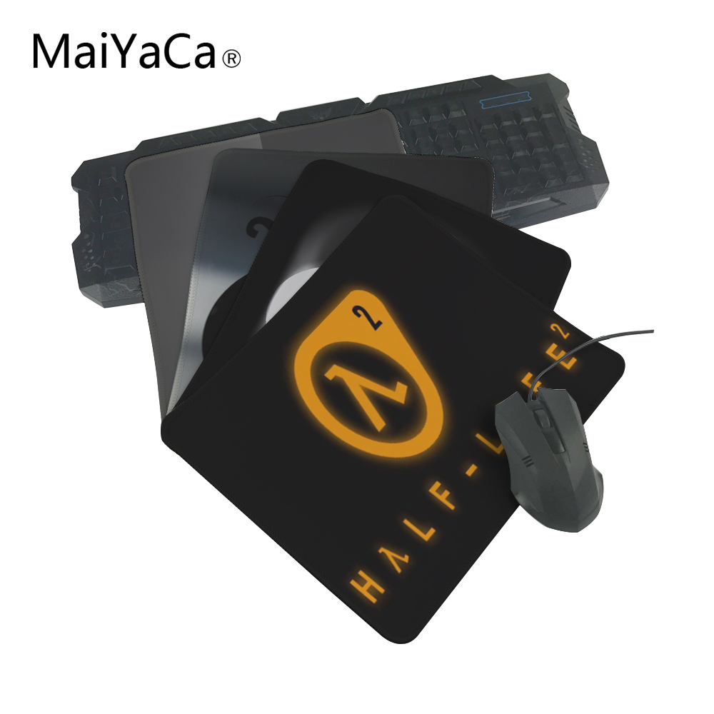 MaiYaCa Hot 2018 Half Life 2 Logo mouse pad with edge locking for internet game and office use Custom Speed / Control mouse pad