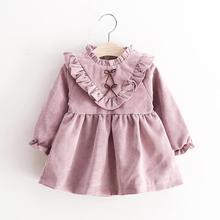 2017 Cute Toddler Kids Baby Girls Autumn Long Sleeve Princess Dress Outfits Clothes J6232