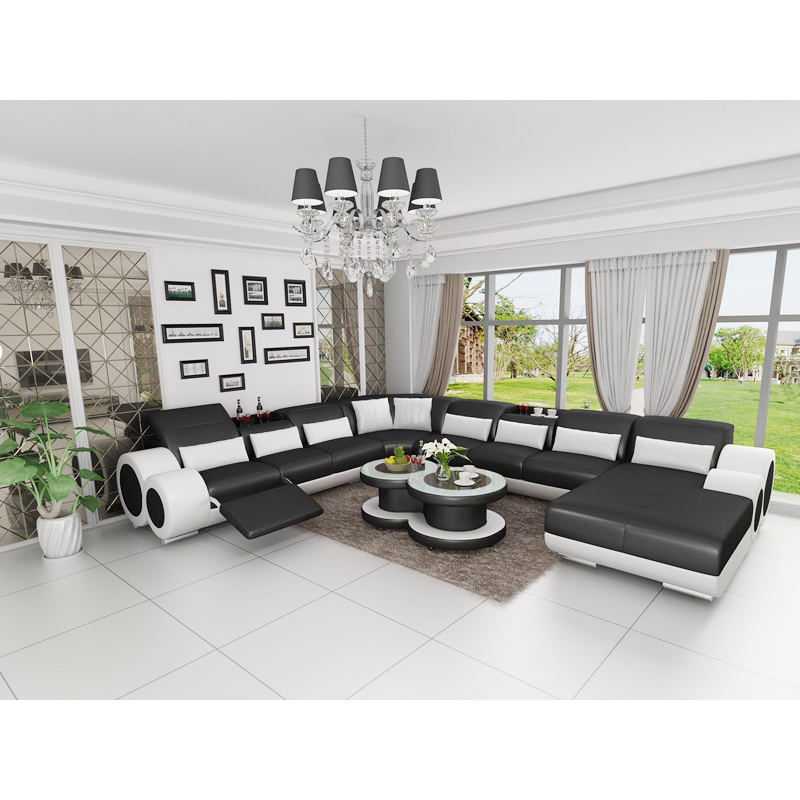 US $2268.0 |Extra long l shape 6 7 8 seater lounge sectional corner sofa  with coffee table-in Living Room Sets from Furniture on Aliexpress.com | ...