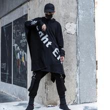 Mężczyźni punk rock hip hop długi trench coat płaszcz z kapturem klub nocny piosenkarka DJ ponadgabarytowych długi płaszcz mężczyźni w stylu gotyckim cape płaszcz tanie tanio Wykop List REGULAR COTTON O-neck Suknem Gothic Pełna Przycisk zadaszone Luźne Ninght Eit Konwencjonalne NONE CT641 STANDARD