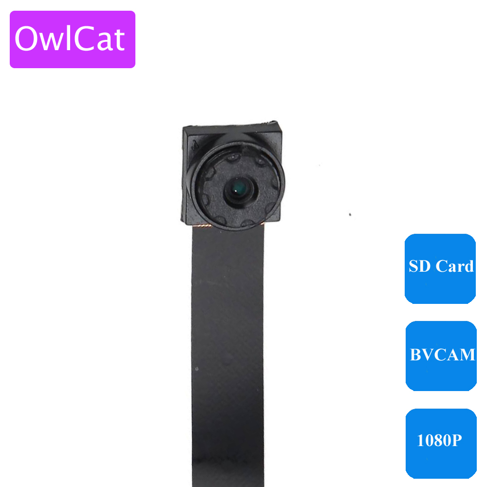 OwlCat Super Mini Wireless Camera WiFi Connection HD 1080P P2P Phone BVCAM Remote View SD Card Slot Microphone Audio Camcorder super mini hd 720p wireless ip camera wifi cctv network cam microphone audio sd card p2p support android iphone p2p view