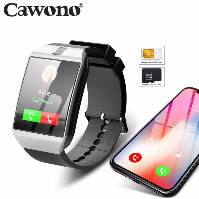 882fc039321 Cawono G12 Bluetooth Smart Watch with Camera Smartwatch Relogio Watch TF SIM  Card for iPhone Samsung Huawei Android VS DZ09 GT08