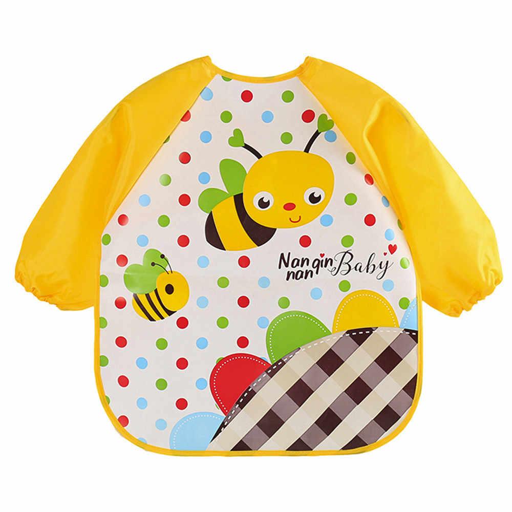 תינוק קריקטורה עמיד למים סינר antifouling צעיף ביב ילדים לאכול ציור שמלת עבור בני ובני תינוק ילדי רחיץ bib_Z304