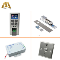 F18 IC Kit Biometric Fingerprint Access Control TCP/IP Webserver Network Access Controller With Exit Button,EM Lock,Power Supply