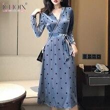 9ab3cb3c4b Buy velvet midi wrap dress and get free shipping on AliExpress.com