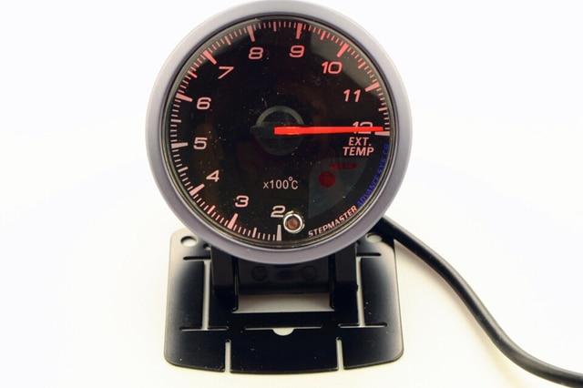 2.5 Inch 60mm Exhaust Gas Temp Gauge White&Orange Dual Led Display With Peak Warning