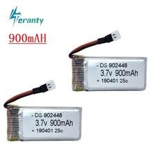 3.7v 900mah lipo bateria para syma x5 x5c X5c-1 x5s x5sw x5sc v931 h5c mjx x708w rc quadcopter peças de reposição para a bateria x5c 2pcs