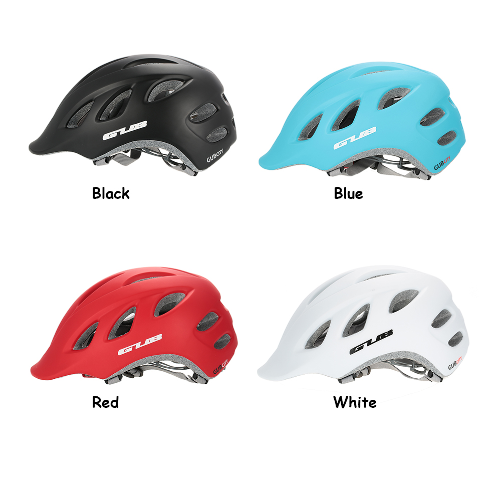 Gub Bicycle Helmet 18 Holes Integrally Molded Outdoor Riding Rockbros Tt 30 Bike Eps Reflective 3 In 1 Helm Sepeda White Package List User Manual English