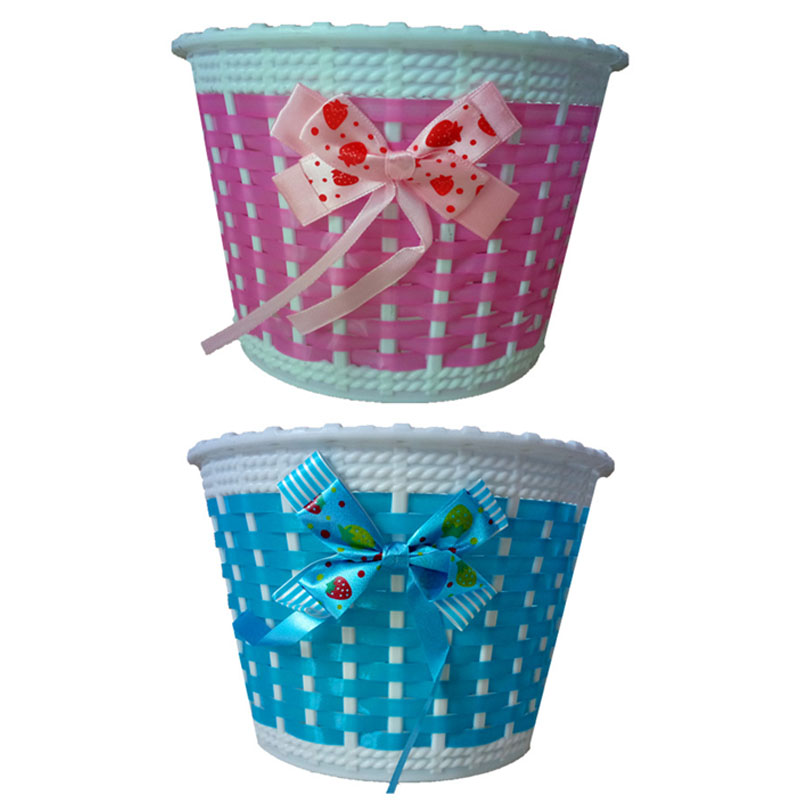 Children Kids Bike Front Basket Bowknot  Bicycle Cycle Shopping Stabilizers