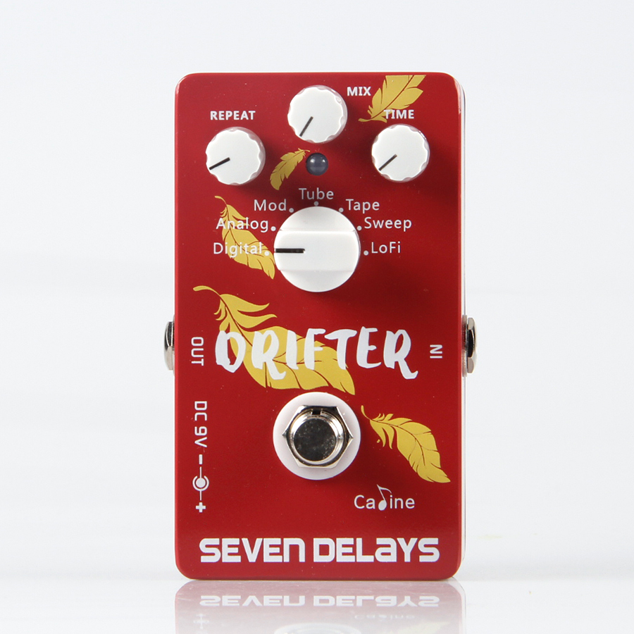 US $63 48 20% OFF|NEW CALINE Drifter Seven Delays CP 37 Guitar effect pedal  Electric and Acoustic Guitar Guitarra Accessories-in Guitar Parts &