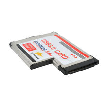 USB 3.0 PCI Express carte adaptateur 5 Gbps double 2 Ports HUB PCI 54mm Slot ExpressCard PCMCIA convertisseur pour ordinateur portable(China)