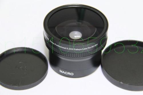 лучшая цена 58mm 0.25x Wide FISH EYE Fisheye +12.5 MACRO Angle LENS 58 2.0 Black