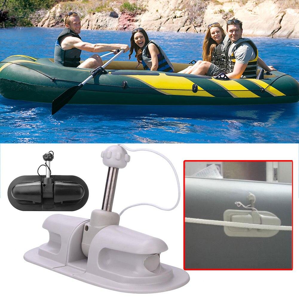 Универсальный ПВХ морской весла замок крючок для лодки каяк каноэ черный Dinghy рафтинг морские аксессуары