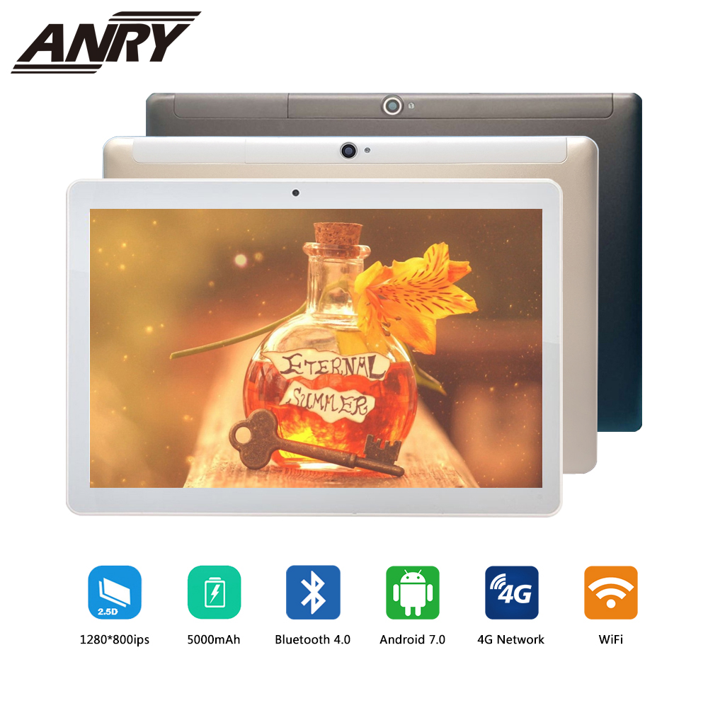 ANRY 10 Inch Android Tablet 4G LTE Octa Core 4GB RAM 64GB ROM Gaming Tablet 4G Phone Call Wifi GPS Bluetooth