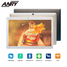 ANRY 10 Inch Android Tablet 4G LTE Octa Core 4GB RAM 64GB ROM Gaming Tablet 4G Phone Call Wifi GPS Bluetooth original 10 1 inch teclast 98 mtk6753 octa core 4g phone call tablet 10 1 android 6 2gb 32gb dual bands wifi gps fdd lte phable