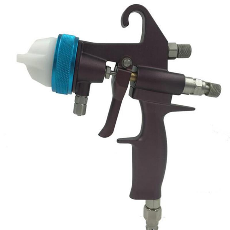 SAT1202ナノクロームPEシルバーペイントダブルノズルスプレーガン塗装ツールデュアルノズル塗装ガンクロームペイント