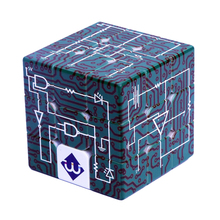 Electric Circuits 3x3x3 Relief Effect Magic Cube IQ Puzzle Game for Blind Man