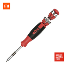 Оригинальный Xiaomi Mijia Wiha 26 в 1 точность хром ванадиевой сталь отвертка магнитные биты Ремонт Инструменты домашний комплект xiomi xaomi