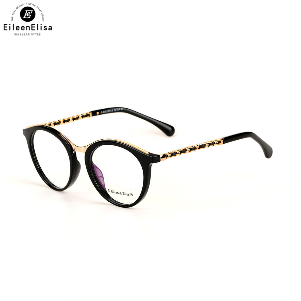 EE Newest Eyeglass Frame Women Retro Glasses Brand Designer Acetate Frame Eyewear Classic Clear Lens Glasses