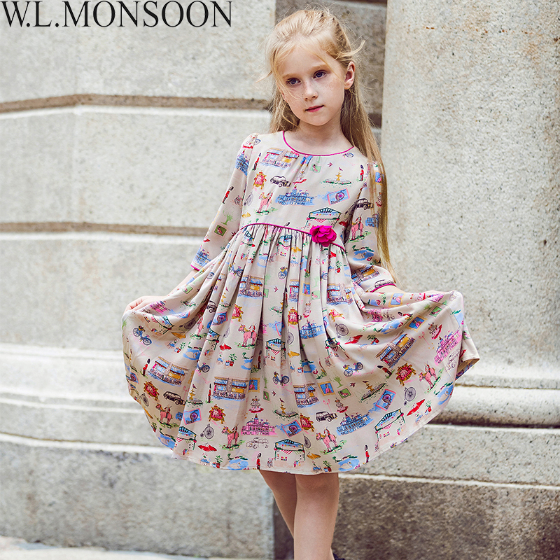 Girls Fashion Clothes: W.L.MONSOON Girls Dresses For Party 2017 Brand Toddler
