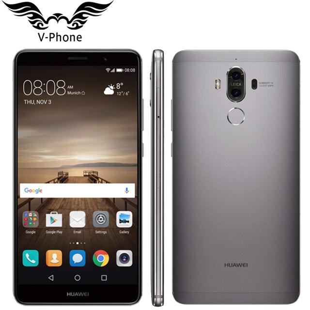"""Оригинальный Huawei Коврики 9 Коврики 9 4 г LTE Octa core 4 ГБ Оперативная память 32 ГБ Встроенная память 5.9 """"HD Android 7.0 отпечатков пальцев ID 20MP + 12MP Камера мобильного телефона"""