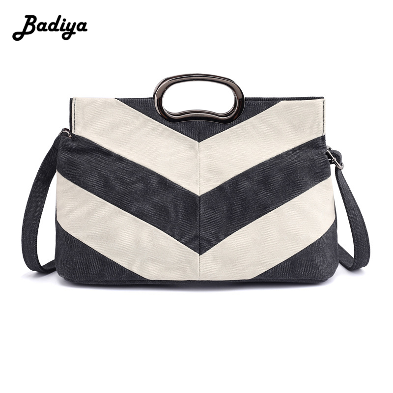 Womens Brife Canvas Handbag New Solid Large Capacity Totes Elegant Crossbody Bag Shoulde ...