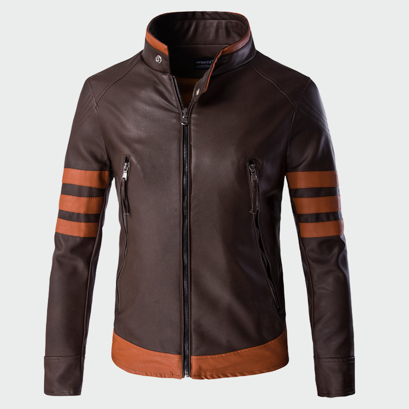 Men's Leather Jackets Men Faux Autumn Winter Coats Punk Motorcycle Biker Male Suede Jacket Windbreaker Bike Riding Coat ML008