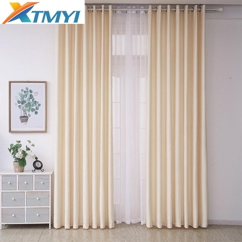Modern Faux linen Blackout Curtains For Living Room Velvet Window Curtains for Bedroom 70%-85% Shading Custom Made Darpe
