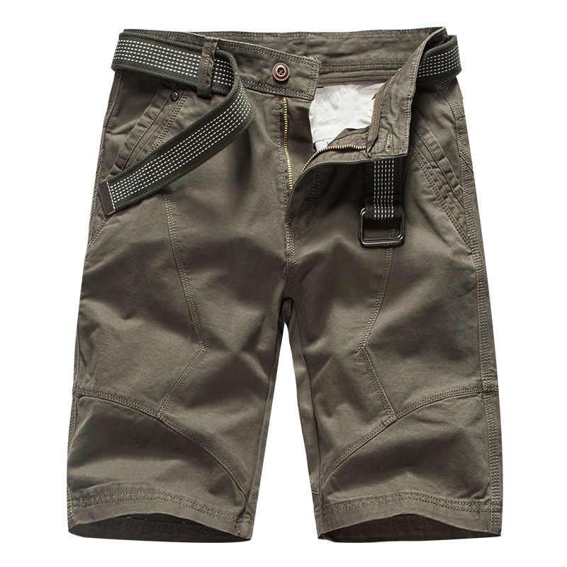 Pantalones cortos a la moda de verano 2019, pantalones cortos tácticos militares para hombres, pantalones cortos de algodón para trabajo sueltos, sin cinturón para hombres