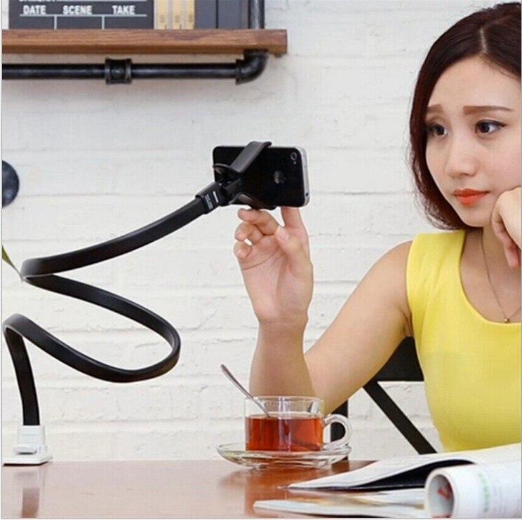 BGreen Biegsamen Universal Mobile Handy Schreibtisch Halter 360 Rotierenden Clip Bed Ständer Für iPhone 5 S 6 Plus 5,5 Samsung Andriod