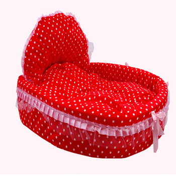 Luxury Sofa Beds | Cartoon Lace Dog Bed Soft Sofa Small Princess Luxury Washable Dog Kennel Cat Nest Coussin Pour Chien Puppy Pet Bed Pink 60M0298