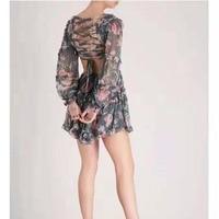 Cosmicchic шелковое мини платье с цветочным принтом пляжное платье на бретельках с открытой спиной и оборками, короткие платья в стиле бохо для п