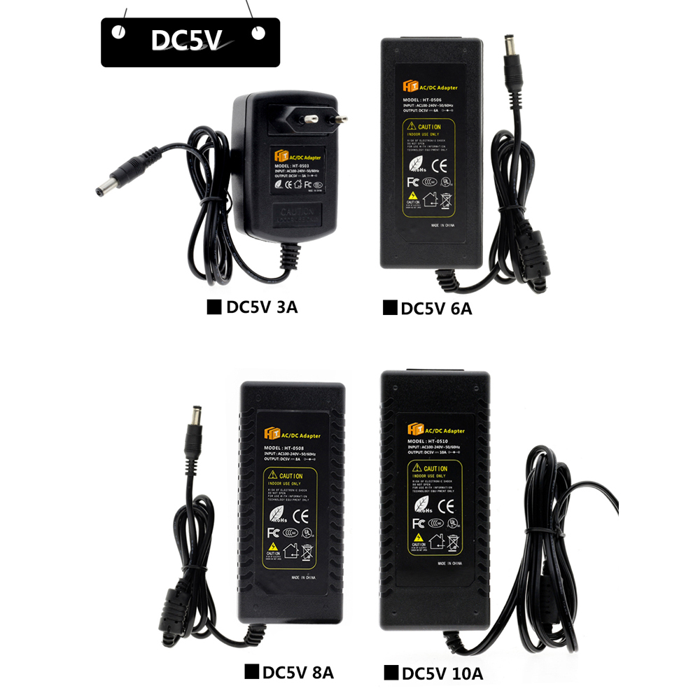 DC 5V 12V 24V Lighting Transformers 1A / 2A / 3A / 5A / 6A / 8A / 10A Power Supply Adapter For LED Strip